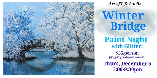 Paint Night: Winter Bridge