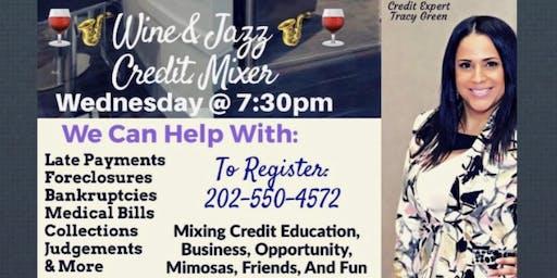 Wine & Jazz Credit Mixer / Wednesday, November 13th at 7:30pm / Laurel MD