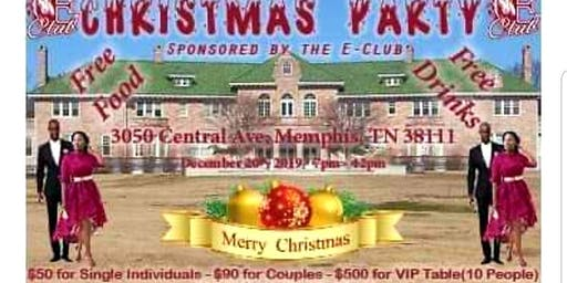 """  CHRISTMAS PARTY ""                       sponsored by the EClub."
