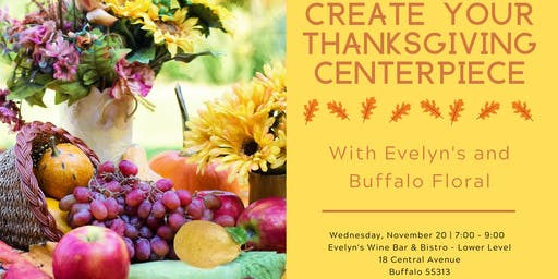 Create your Thanksgiving Centerpiece with Buffalo Floral & Evelyn's