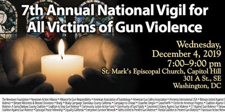 RSVP for Congress-7th Annual National Vigil for All Victims of Gun Violence tickets