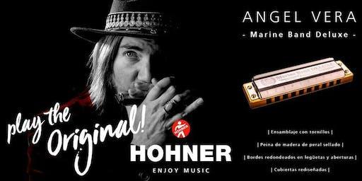 Masterclass gratis de armónica en Musical Luber (Burgos) con Ángel Vera