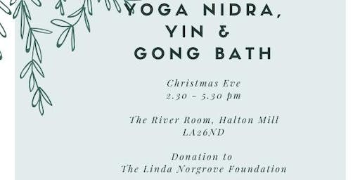 Yoga Nidra, Yin & Gong Bath on Christmas Eve