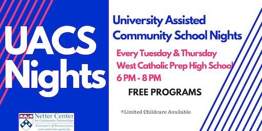 UACS Nights: Free Classes & Bookbag Giveaway