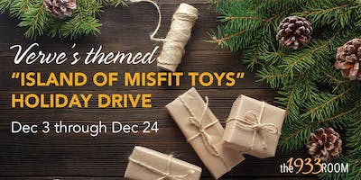"""Verve's Themed """"Island of Misfit Toys"""" Holiday Drive"""