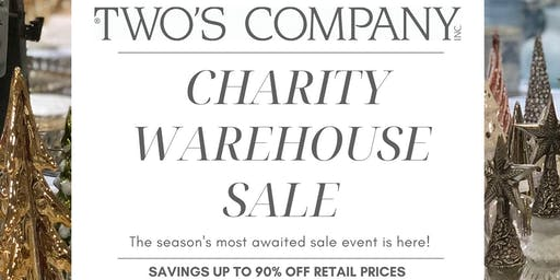 Two's Company Annual Charity Warehouse Sale