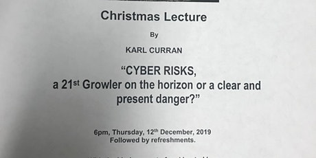 """""""CYBER RISKS"""" IMLA ANNUAL CHRISTMAS LECTURE tickets"""
