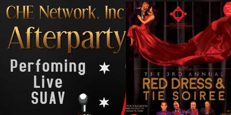 Red Dress & Tie Soiree AFTERPARTY with SUAV tickets