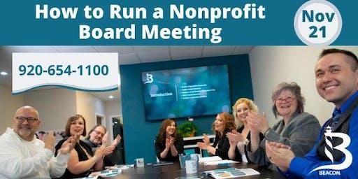 Seminar: How to Run a Nonprofit Board Meeting