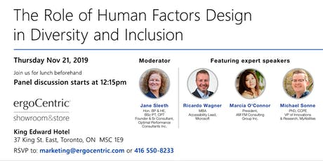 The Role of Human Factors Design in Diversity and Inclusion tickets