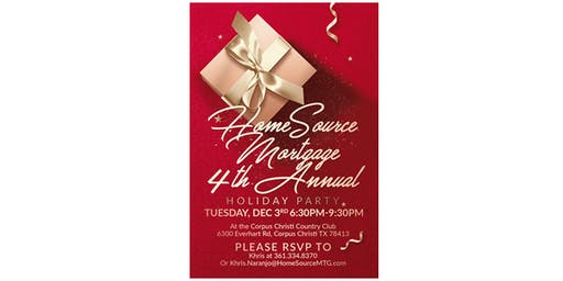 HomeSource Mortgage 4th Annual Holiday Party