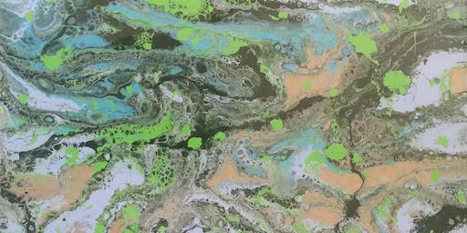 Acrylic Pour for Beginners with Creatively Carrie