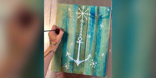 Winter Anchor: Glen Burnie, Sidelines with Artist Katie Detrich!