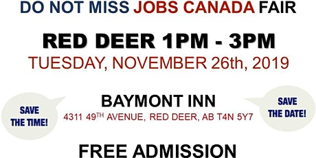 Red Deer Job Fair – November 26th, 2019 tickets