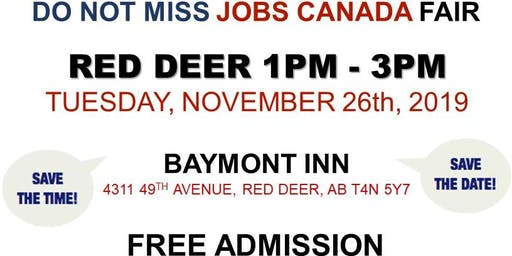 Red Deer Job Fair – November 26th, 2019