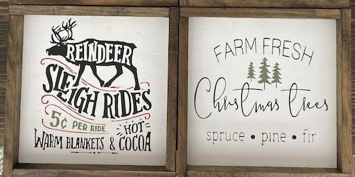 DIY  Holiday Sign Make & Take