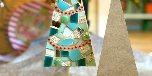 Large Rustic Mosaic Christmas Tree-With Stand