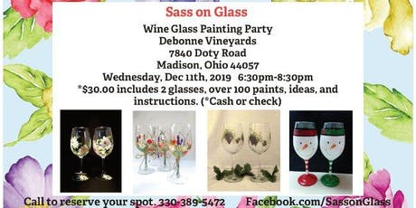 Twelve Days of Christmas Wine Glass Painting Party tickets