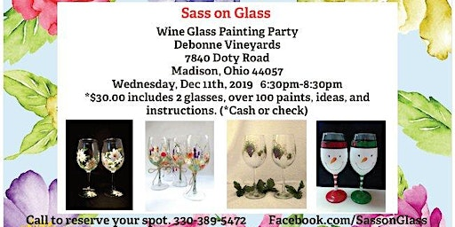 Twelve Days of Christmas Wine Glass Painting Party