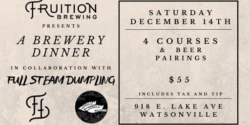 Brewery Dinner with Full Steam Dumpling