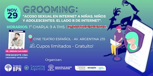 """Grooming: """"Acoso sexual en Internet a niñas, niños y adolescentes""""."""
