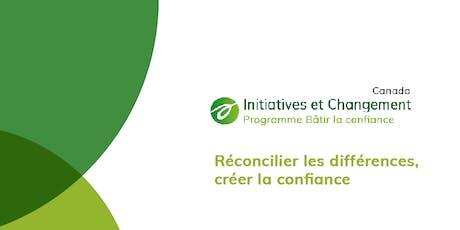 Table ronde et lancement officiel du Projet Bâtir la confiance - I&C Canada billets