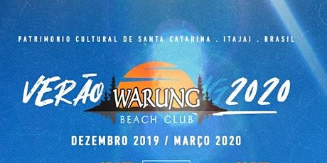 Passaporte Warung Beach Club -27, 28 e 29/12 ingressos