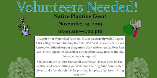 Chagrin Falls River Run Park Volunteer Tree Planting