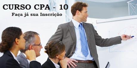 Curso Preparatório - CPA-10 - Aulas aos Sábados - Intensivo dezembro - 14/12 a 21/12 ingressos