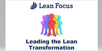 Lean Transformation Academy - Leading the Lean Transformation (4/20/20-4/21/20)