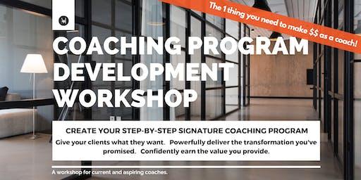 Coaching Program Development Workshop