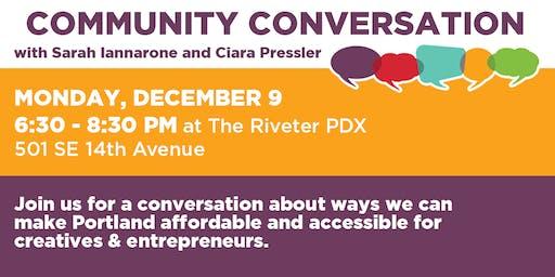 Community Conversation with Sarah Iannarone & Ciara Pressler