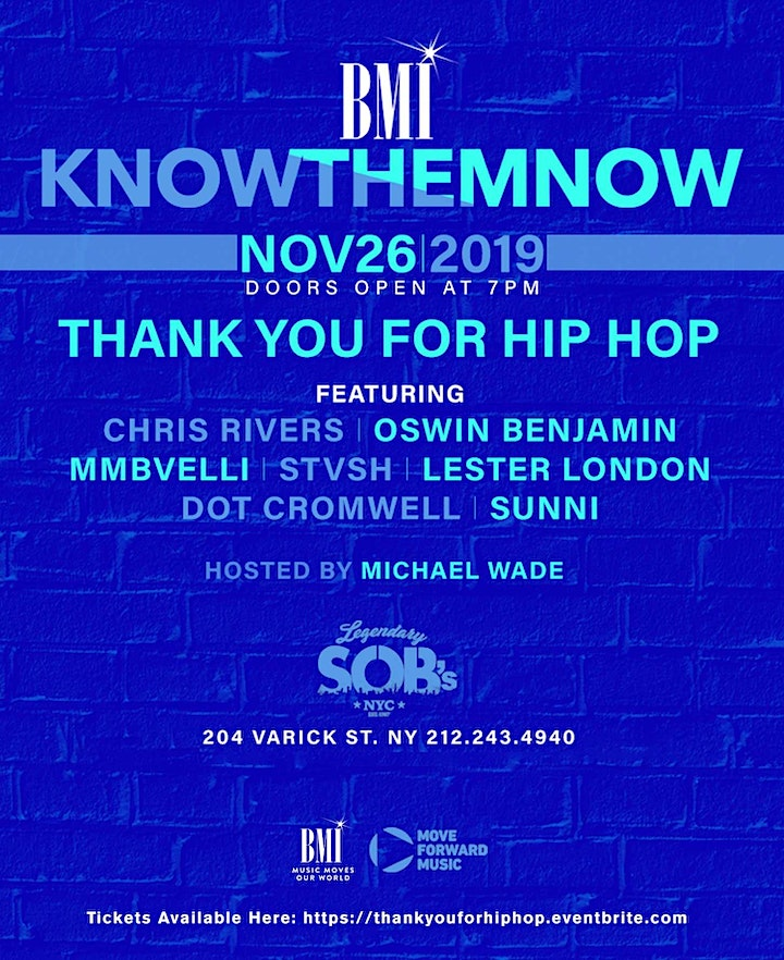 BMI Know Them Now: Thank You For Hip Hop image