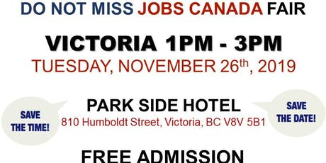 Victoria Job Fair –  November 26th, 2019 tickets