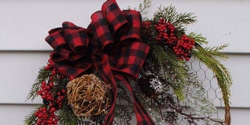Make your own winter wreath