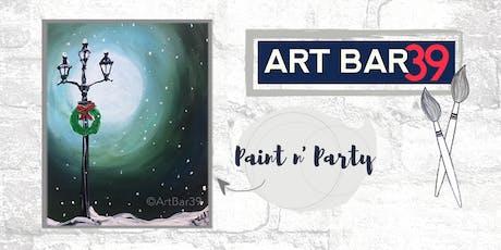 Paint & Sip | ART BAR 39 | Public Event | Christmas Lamp Post tickets