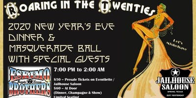 Roaring 20's New Years Eve Dinner and Masquerade Bash