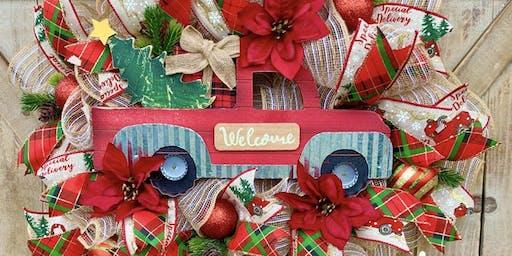 Holiday Wreath Class 2019 with Krafty Karen Designs