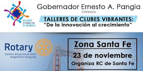 """""""TALLER DE CLUBES VIBRANTES""""- SANTA FE entradas"""