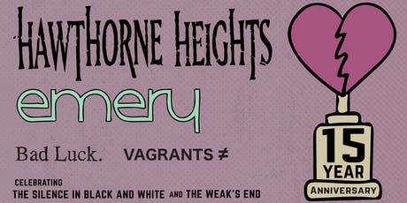Hawthorne Heights and Emery @ Pensacola VIP Upgrade tickets