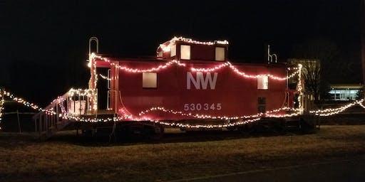 Santa at the Caboose