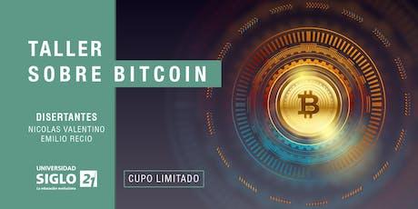 Taller sobre Bitcoin  entradas