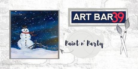 Paint & Sip | ART BAR 39 | Public Event | Snowman tickets