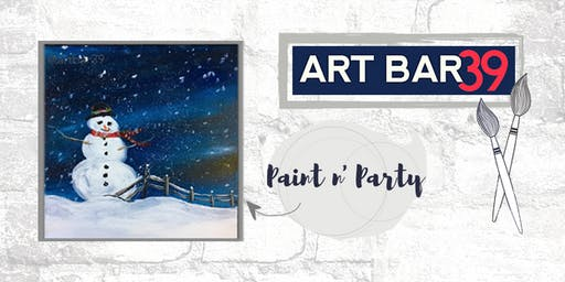 Paint & Sip | ART BAR 39 | Public Event | Snowman