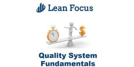 Lean Transformation Academy - Quality System Fundamentals (2/20/20-2/21/20) tickets