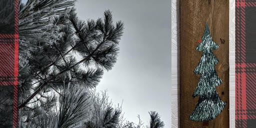 DIY: Snowy Pine Painting on Reclaimed Wood
