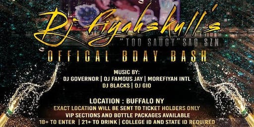 DJ FIYAHSKULL OFFICIAL BDAY BASH TOO SAUCY