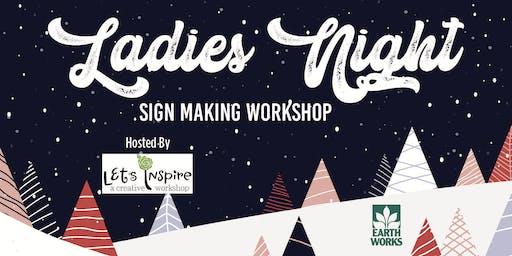 Ladies Night: Sign Making Workshop