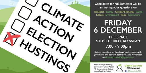Climate Action Election Hustings  for NE Somerset - The Space, Keynsham