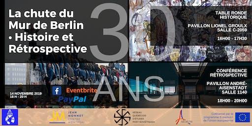 Grande Conférence ● 30 ans après la chute de Mur de Berlin